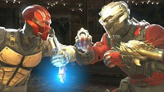 Injustice 2 - red hood vs deadshot  - all intro dialogue/all clash quotes, super moves