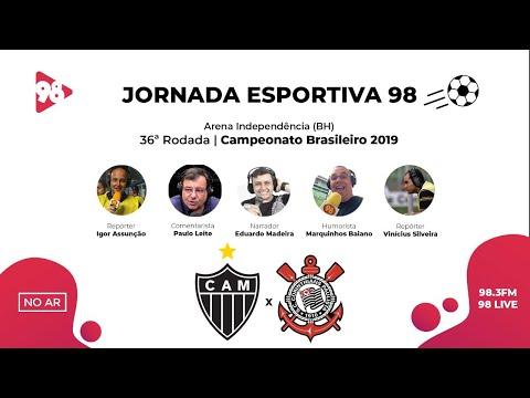 ATLÉTICO-MG X CORINTHIANS   BRASILEIRÃO   RÁDIO 98FM AO VIVO