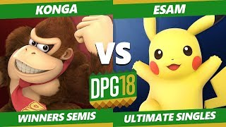 Smash Ultimate Tournament - Konga (Donkey Kong) Vs. PG | Esam (Pikachu) DPOTG18 SSBU Winners Semis
