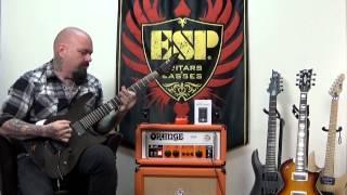 ESP Guitar E-II Standard M-II See Thru Black Demo