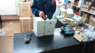 Ускоренная сборка шкафа(Сборка маленького шкафа автоматики, ускорено в 8 раз., 2014-11-23T17:27:28.000Z)
