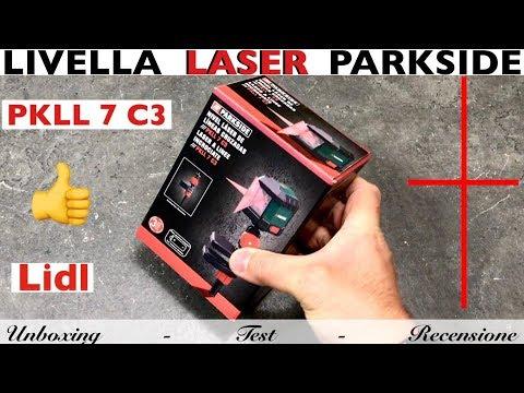 Level LASL Self-leveling LIDL. PARKSIDE. PKLL 7 C3. Dengan Penjepit 360 °. Otomatis Dengan Baterai.