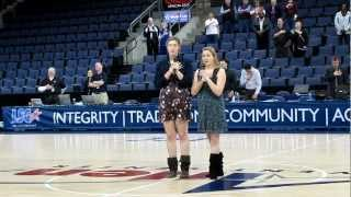 Lone Star Conference College Basketball Championship National Anthem Performance One