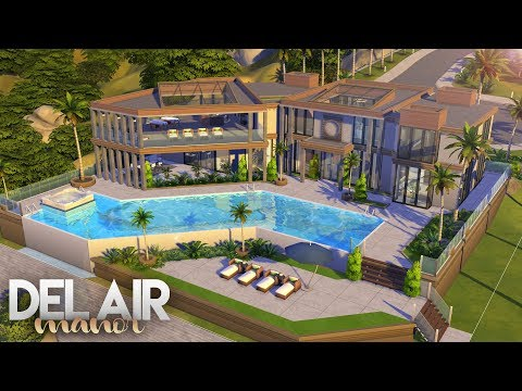 The Sims 4: Get Famous | DEL AIR MANOR | NO CC Speed Build