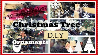 Diy Wooden Pallet Christmas Tree And Ornaments