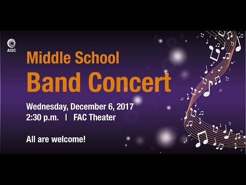 Middle School Band Concert - 2017