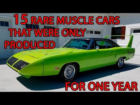 15 Rare Muscle Cars That Were Only Produced For One Year