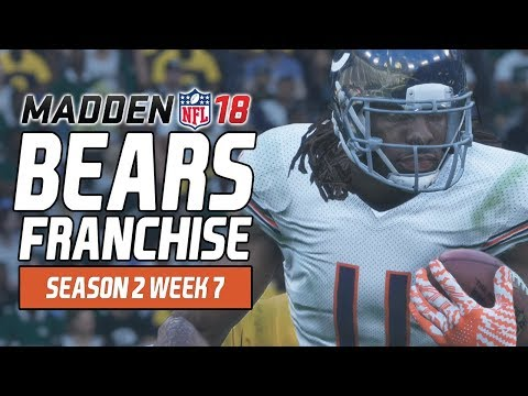 Madden NFL 18 - Bears Franchise Ep. 33 - Week 7 at Packers [Season 2]