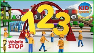 10 Little Numbers - Counting - Trains - Numbers Song - KIDspace Studios