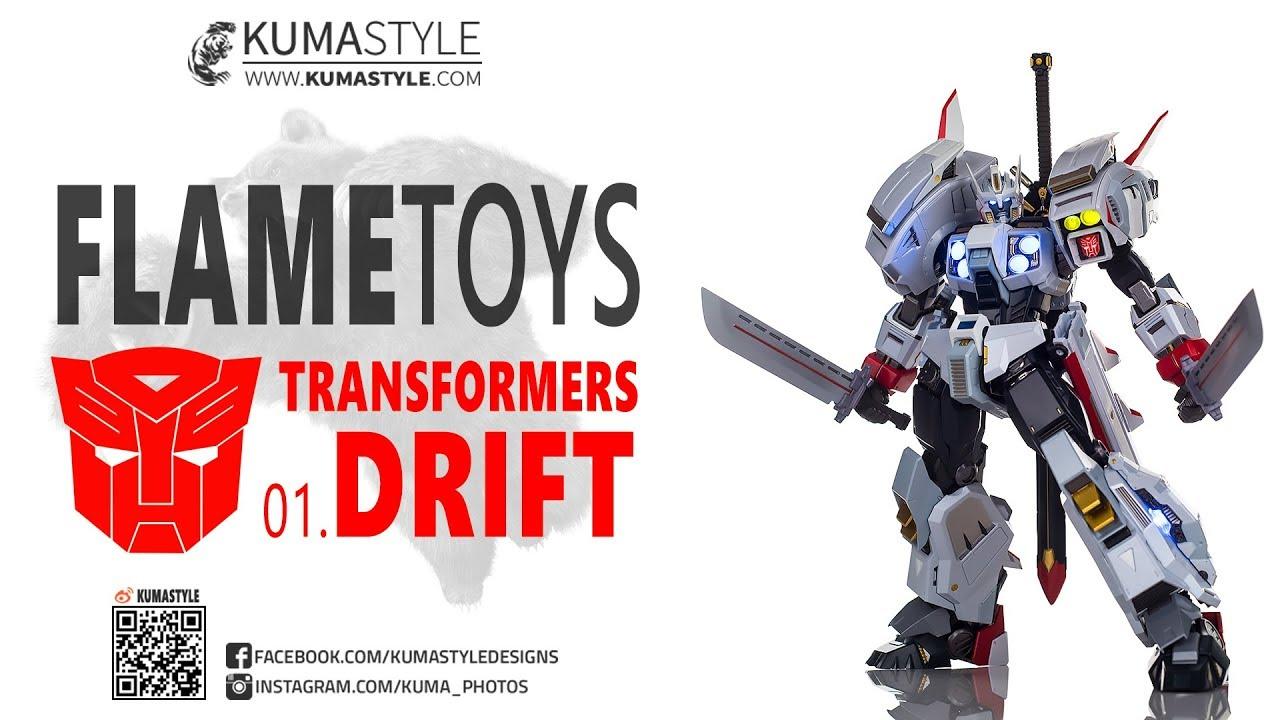 Toy Review Flame Toys Transformers 01 Drift Kuro Kara Kuri Youtube