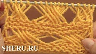 Knitting Long Loops Stitch Pattern Урок 7 Вязание спицами