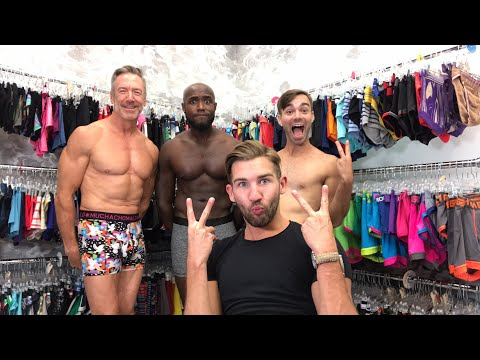 Underwear Models try on underwear!
