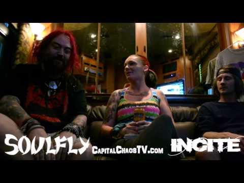 SOULFLY/INCITE (interview part 1) on CAPITALCHAOSTV.COM