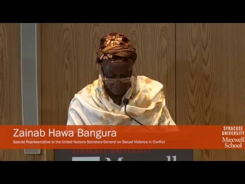 Keynote: UN Special Representative on Sexual Violence in Conflict Zainab Bangura, Spotlight on Syria