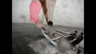 RS200 Windy Dinghy Sailing on GoPro