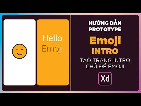 Trang Intro chủ đề Emoji - Thực hành Auto-Animate trong Adobe XD
