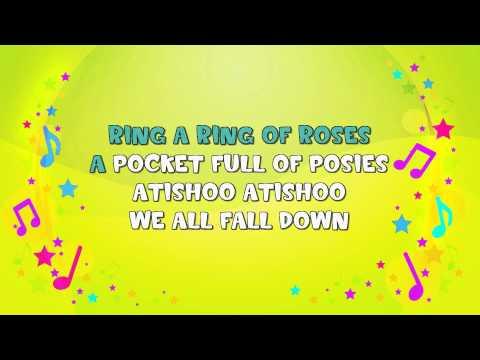 Ring A Ring A Roses | Karaoke | Nursery Rhyme | KiddieOK