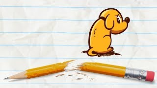 Pencilmate Finds a Puppy -in- MAN'S BEST FIEND - Pencilmation Cartoons for Kids