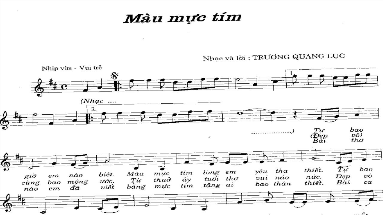 Mầu mực tím – Trương Quang Lục (50 Bài hát thiếu nhi hay nhất thế kỷ 20)