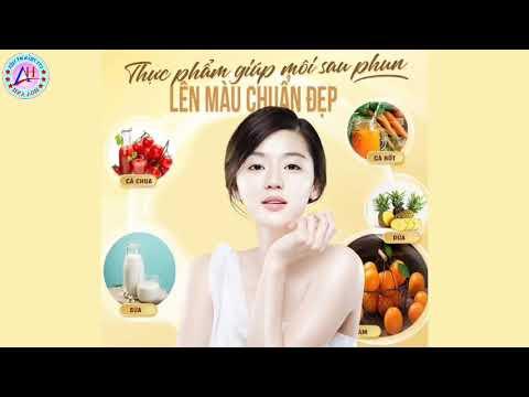 Sau khi phun môi cần bổ sung những thực phẩm gì để môi lên màu chuẩn và đẹp?