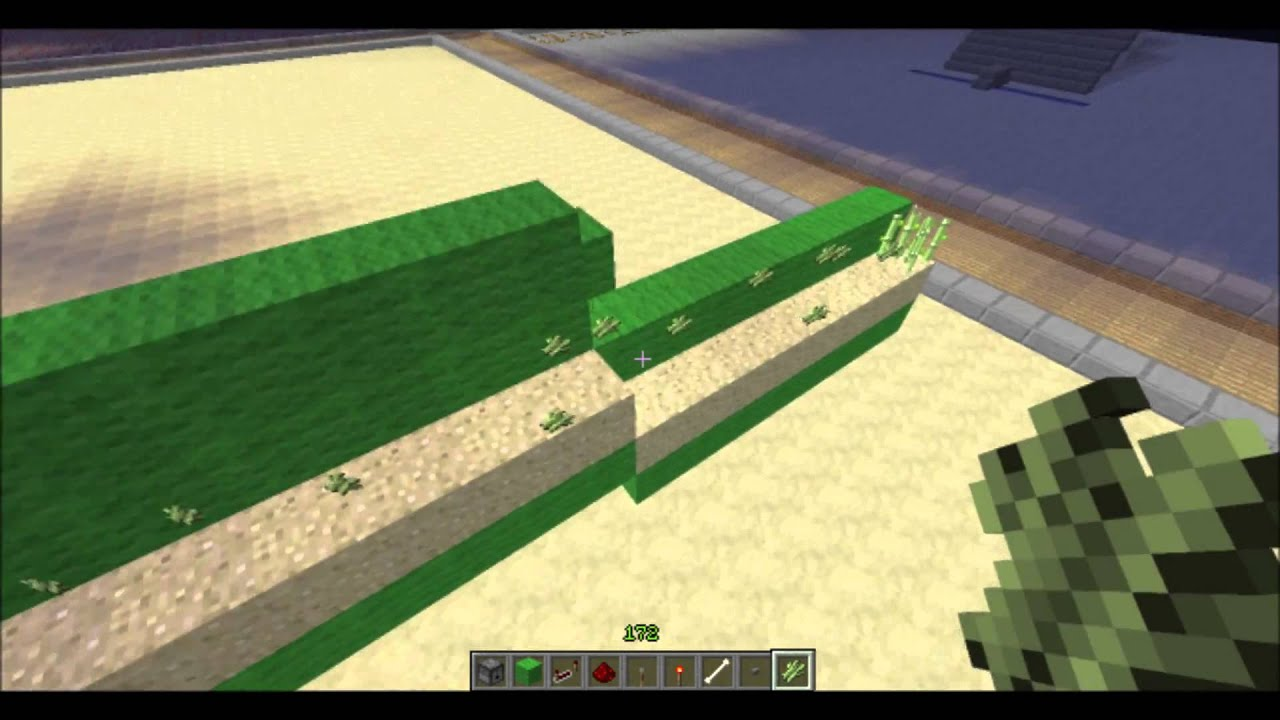 Minecraft: Cool Sugar Cane Farm- NO PISTONS! - YouTube