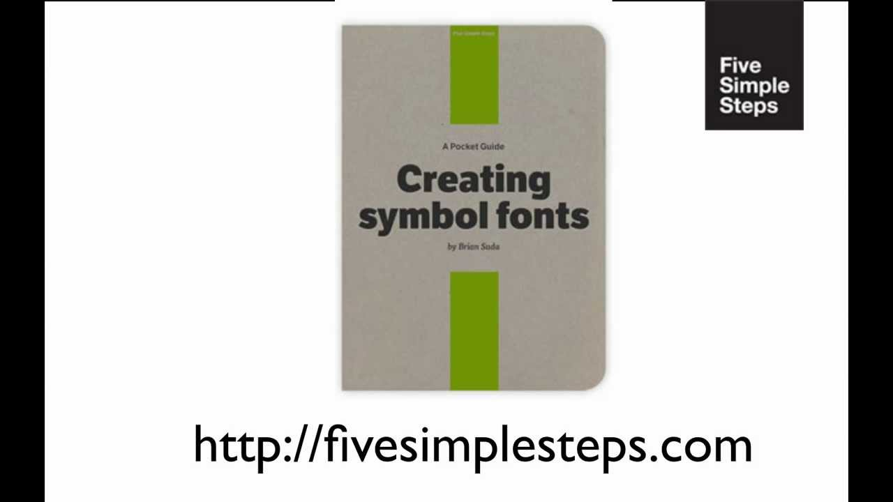 medium resolution of five simple steps a pocket guide creating symbol fonts by brian rh youtube com making a pocket guide pocket guide books