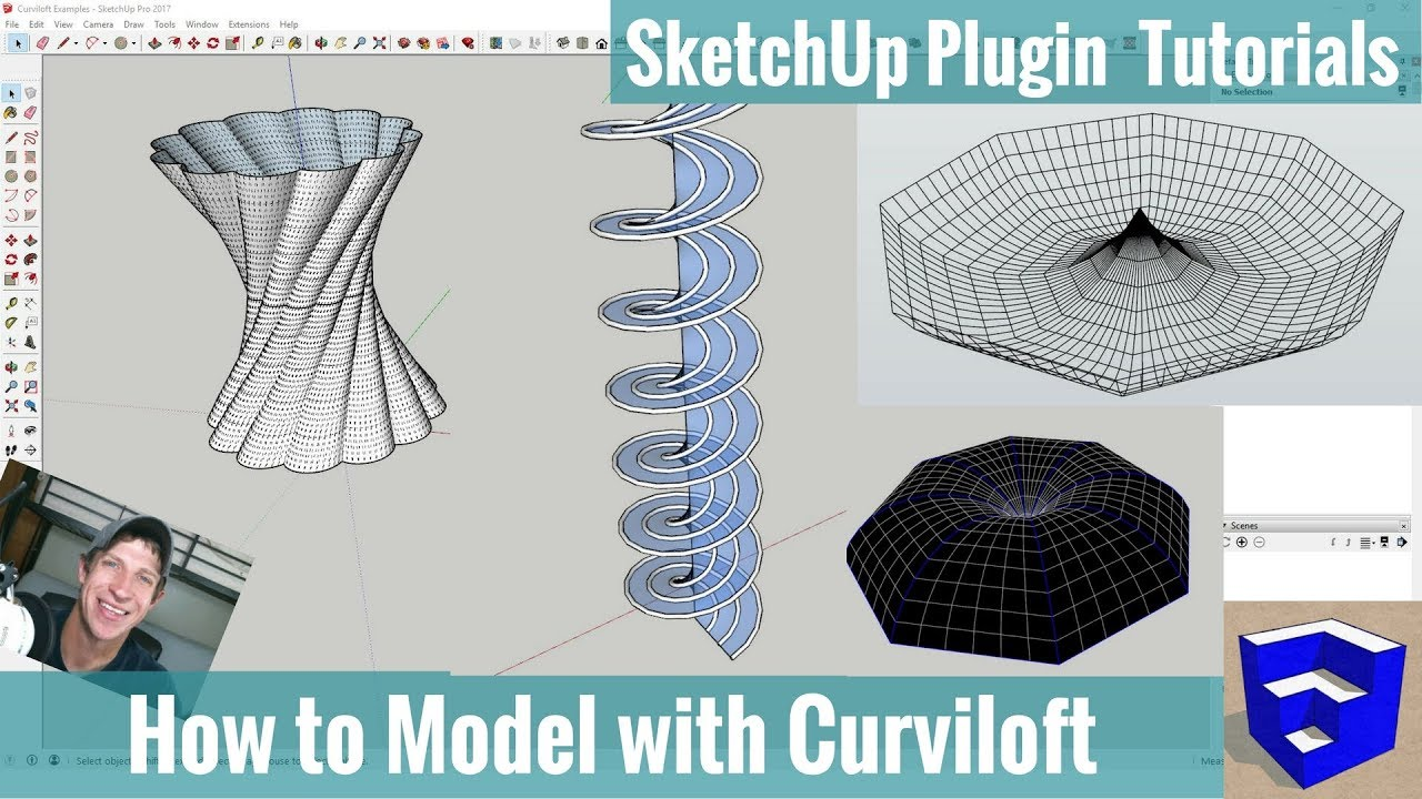 Creating Organic Models with Curviloft Step by Step - SketchUp
