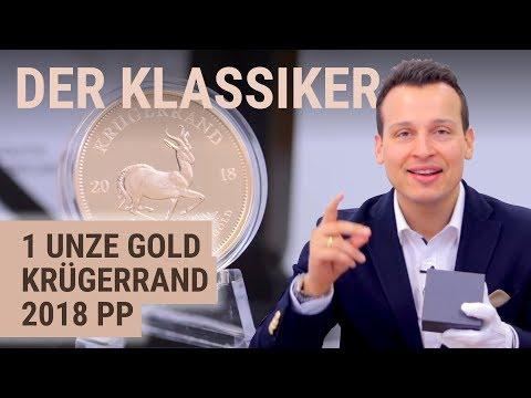 1 Unze Gold Krügerrand 2018 PP 🔱 Auflage: 1.000 Goldmünzen im Etui