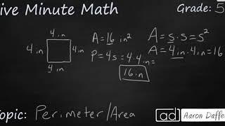 5th Grade Math Area and Perimeter