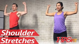 10 Min Shoulder Stretches & Shoulder Pain Relief Exercises - Shoulder Stretching & Mobility Stretch