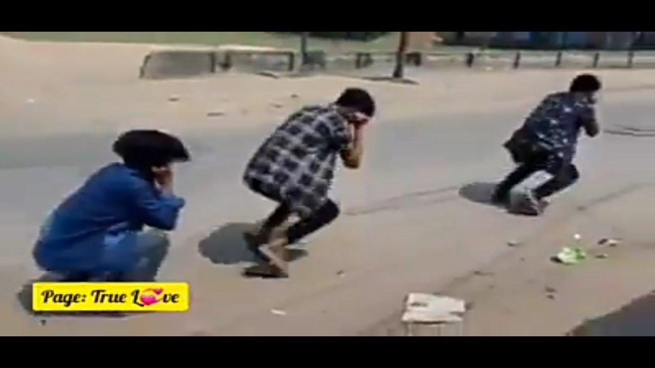 Corona Dance - Covid 19 - Corona virus indian police stick charge