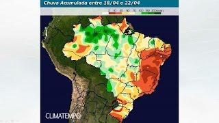 Mais chuva para o Sul do BR