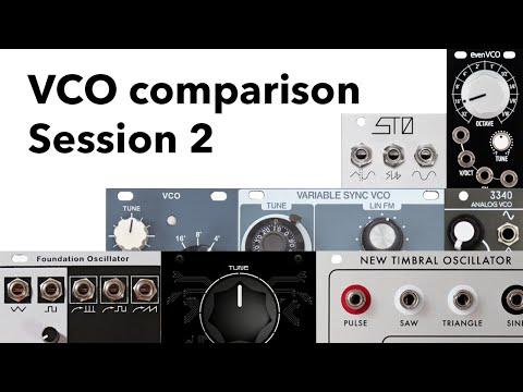 Eurorack VCO comparison - Session 2
