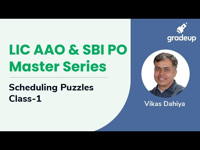 Scheduling Puzzle   Class-1   LIC AAO & SBI PO Master Series