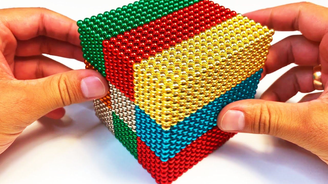 DIY - 10000 Magnetic Balls / Магнитные Шарики, делаем БОЛЬШОЙ КУБ - ASMR