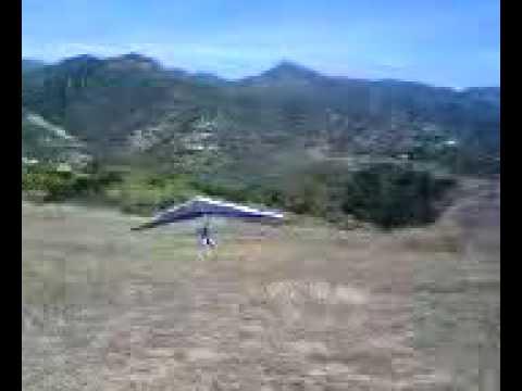 Bad Landing 2 Hanglider Parma Park Santa Barbara phone video