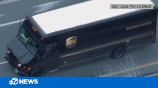 UPS driver carjacking leads to wild police chase  -- new video!