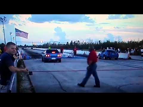 2003 mach 1 vs Subaru wrx county line raceway