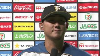 2020年7月15日 北海道日本ハム・中田翔選手ヒーローインタビュー