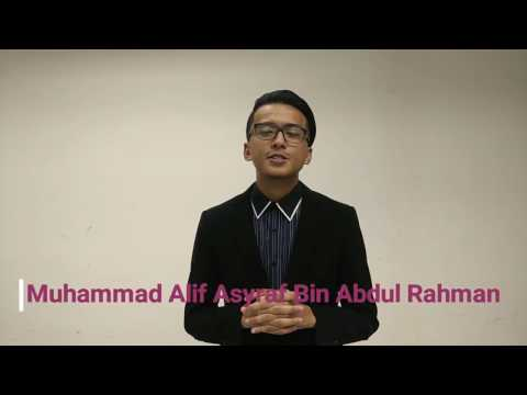 VIDEO RESUME M. ALIF ASYRAF UK34312 UMT