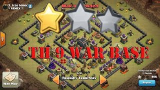 Clash Of Clans : TH 9 (Town Hall 9) War Base Anti 2 Star With Replays