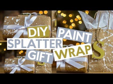 Splatter Paint Gift Wrap