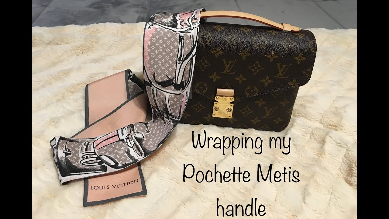 231ecfda573 How to Wrap Bandeau/Twilly | Louis Vuitton Pochette Metis - YouTube