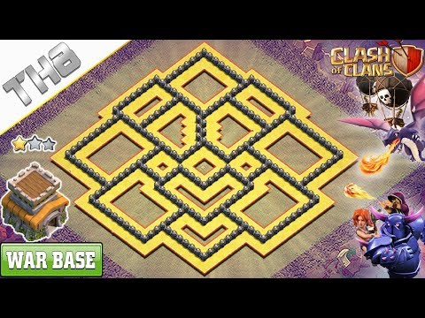 NEW! COC TH8 War Base for Clan War/Clan war league 2018 - Clash of Clans