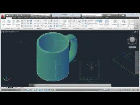 AutoCAD 2013 Tutorial: How to Convert 2D to 3D Objects