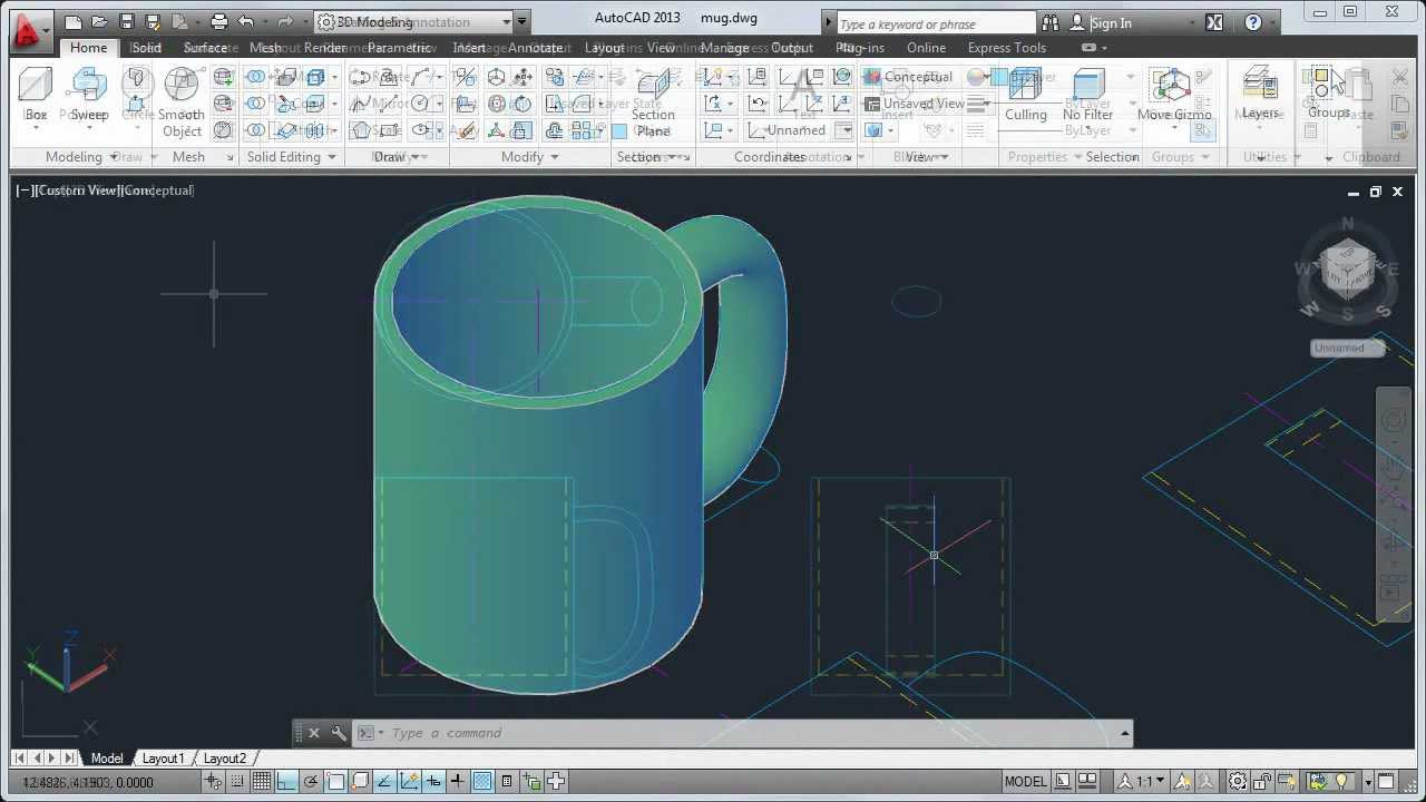 AutoCAD 2013 Tutorial How to Convert 2D to 3D Objects
