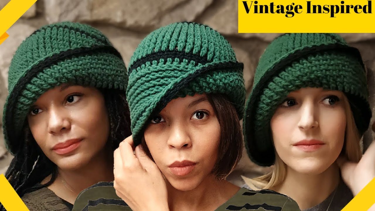 8390f11bf58 Crochet Vintage Cloche Hat Pattern - 1920 s Flapper - YouTube