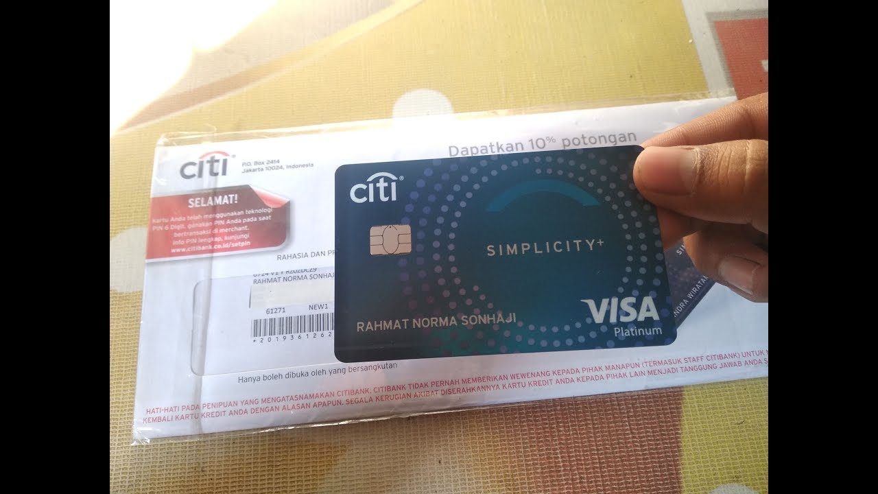 Unboxing Kartu Kredit Citibank Simplicity Youtube