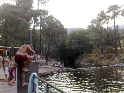 salto piscinas naturales la adrada 2 youtube