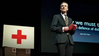 Jonas Gahr Støre: In defense of dialogue(http://www.ted.com In politics, it seems counterintuitive to engage in dialogue with violent groups, with radicals and terrorists, and with the states that support ..., 2012-01-11T16:46:23.000Z)